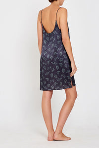 Adeline Charcoal Nightdress Back
