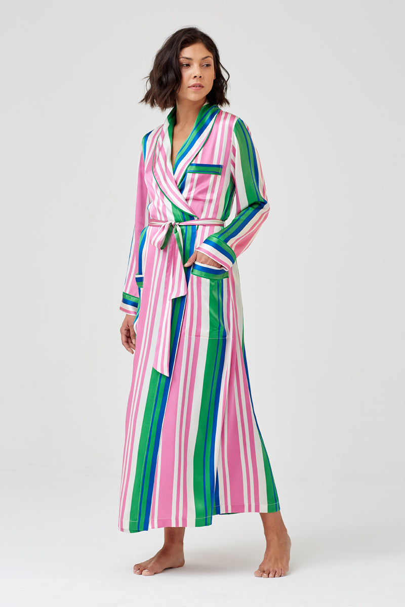 Ainsley Classic Long Silk Robe