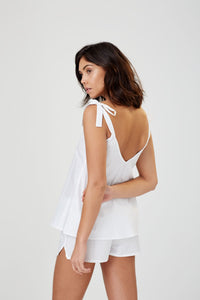 Anais White Cotton Camisole