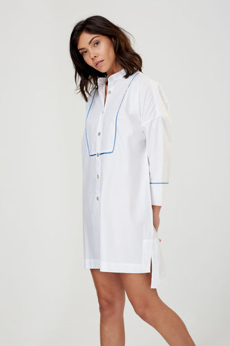 Ceres White Cotton Nightshirt