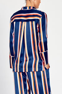 Dietrich Stripe Silk Pyjama Set