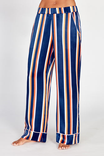 Dietrich Stripe Silk Pyjama Trousers