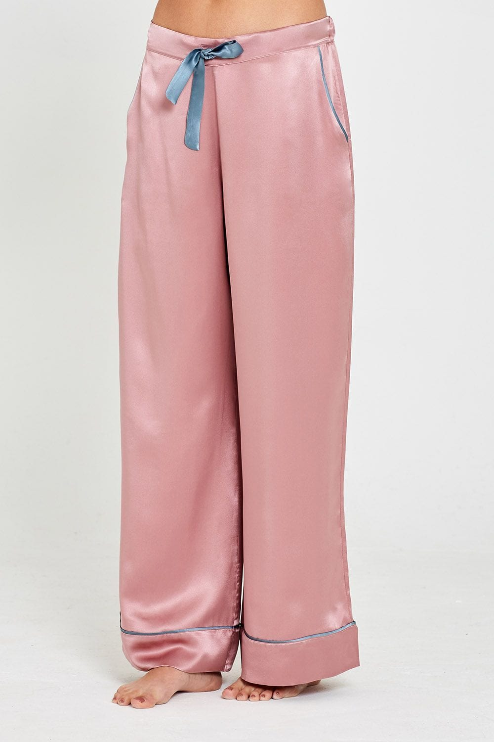 Dietrich Silk Pyjama Rosa Trousers Front