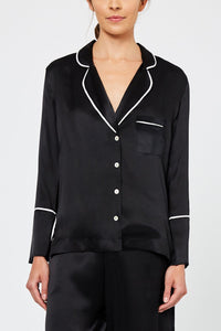 Evie Silk Pyjama Set Black