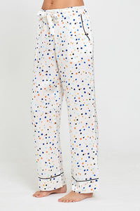Lisbon Pebble Print Evie Pyjamas Front Trousers