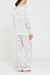 Lisbon Pebble Print Evie Pyjamas Back Set