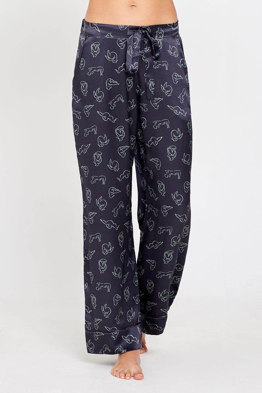 Evie PJs Charcoal Print Trousers