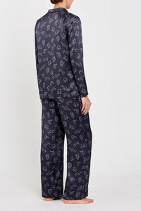 Evie PJs Charcoal Print full back