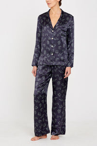Evie PJs Charcoal Print full front