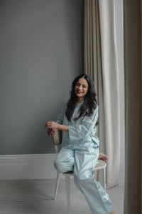 Cleo Soft Mint Cotton Pyjama Set