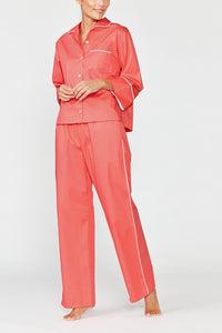 Cleo Coral Cotton Pyjama Set