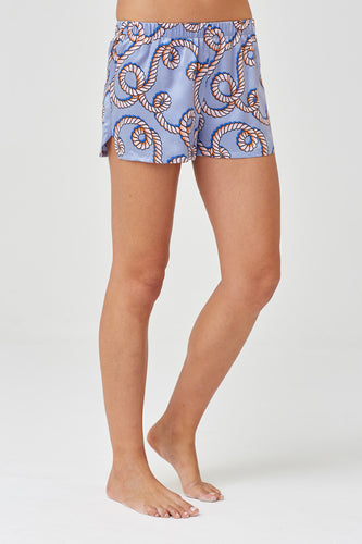 Juno Pale Rope Silk Shorts