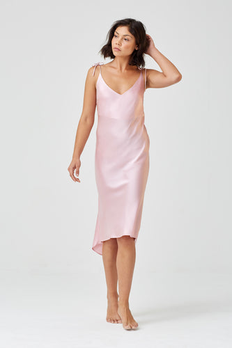 Aurora Pale Pink Silk Nightdress