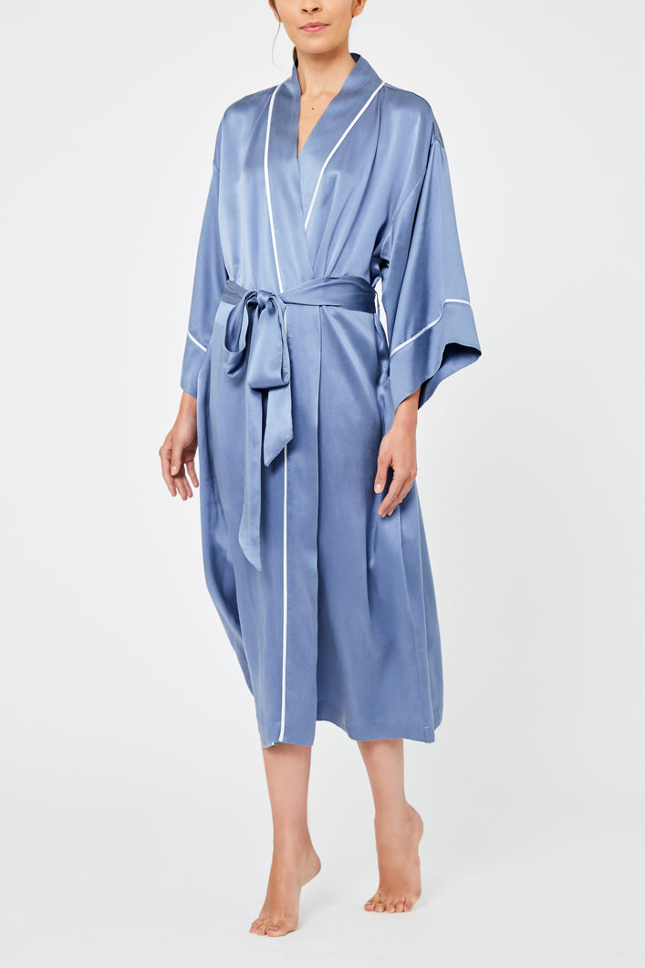 Cari Feathers Collection Silk Robe - Limited Edition