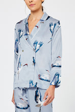 Asteria Bird Print Silk Pyjama Shirt