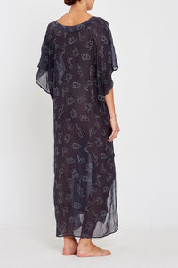 Isabel kaftan charcoal back