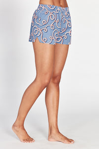 Juno Pale Blue Cotton Shorts