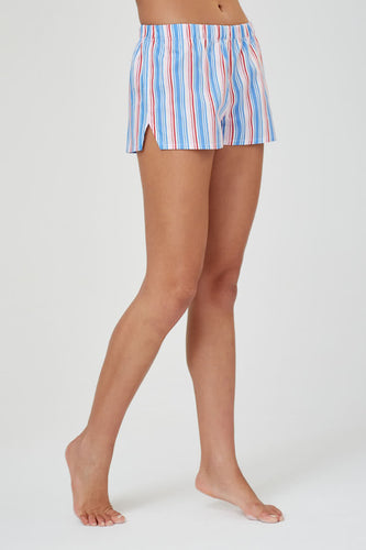 Juno Multi Stripe Cotton Shorts