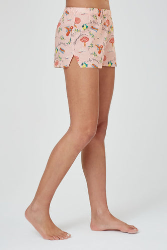 Juno St Tropez Print Cotton Shorts