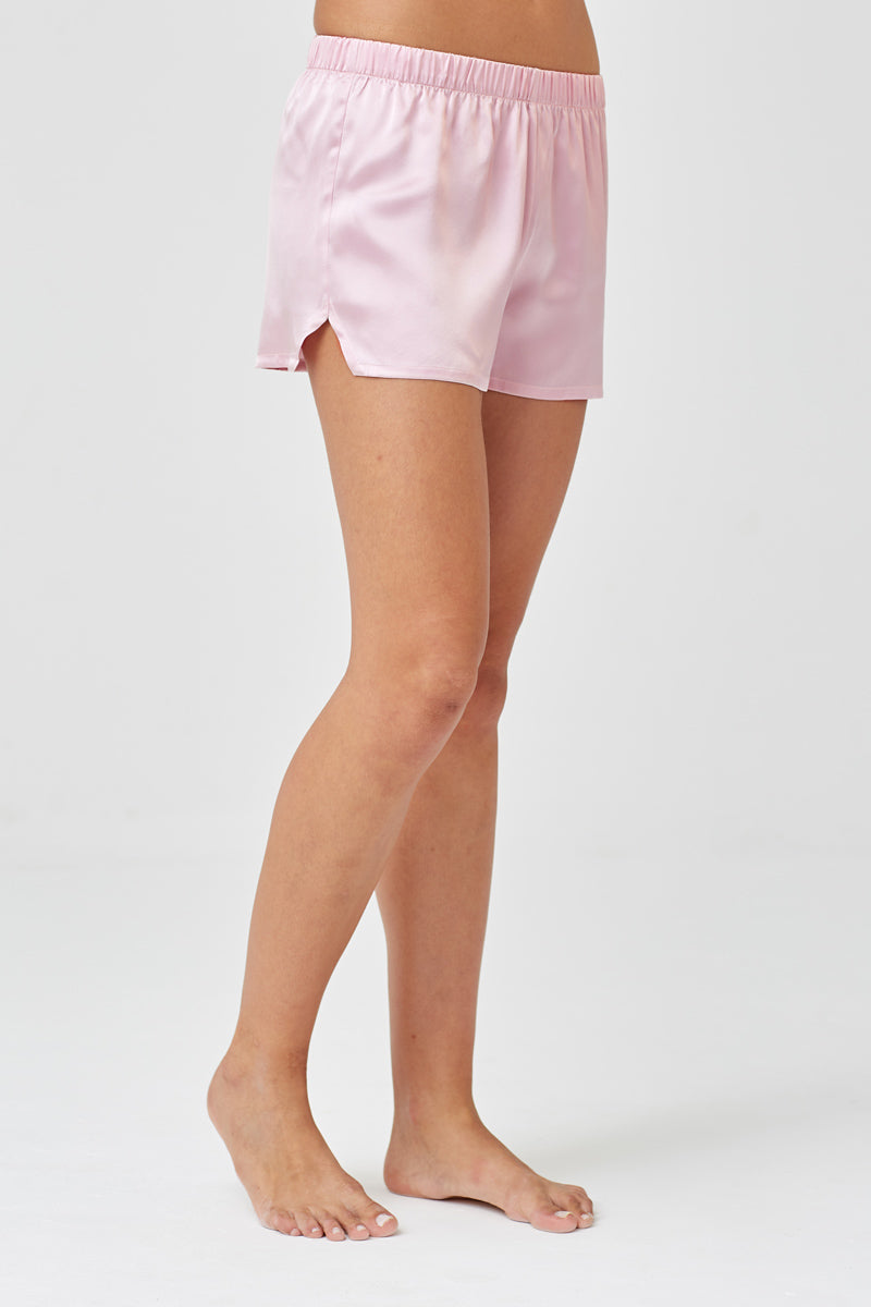 Juno Pale Pink Silk Shorts