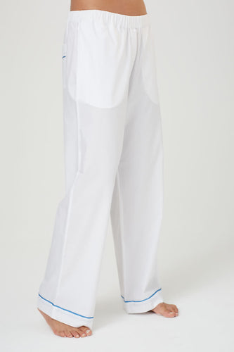Pax White Cotton Pyjama Trousers