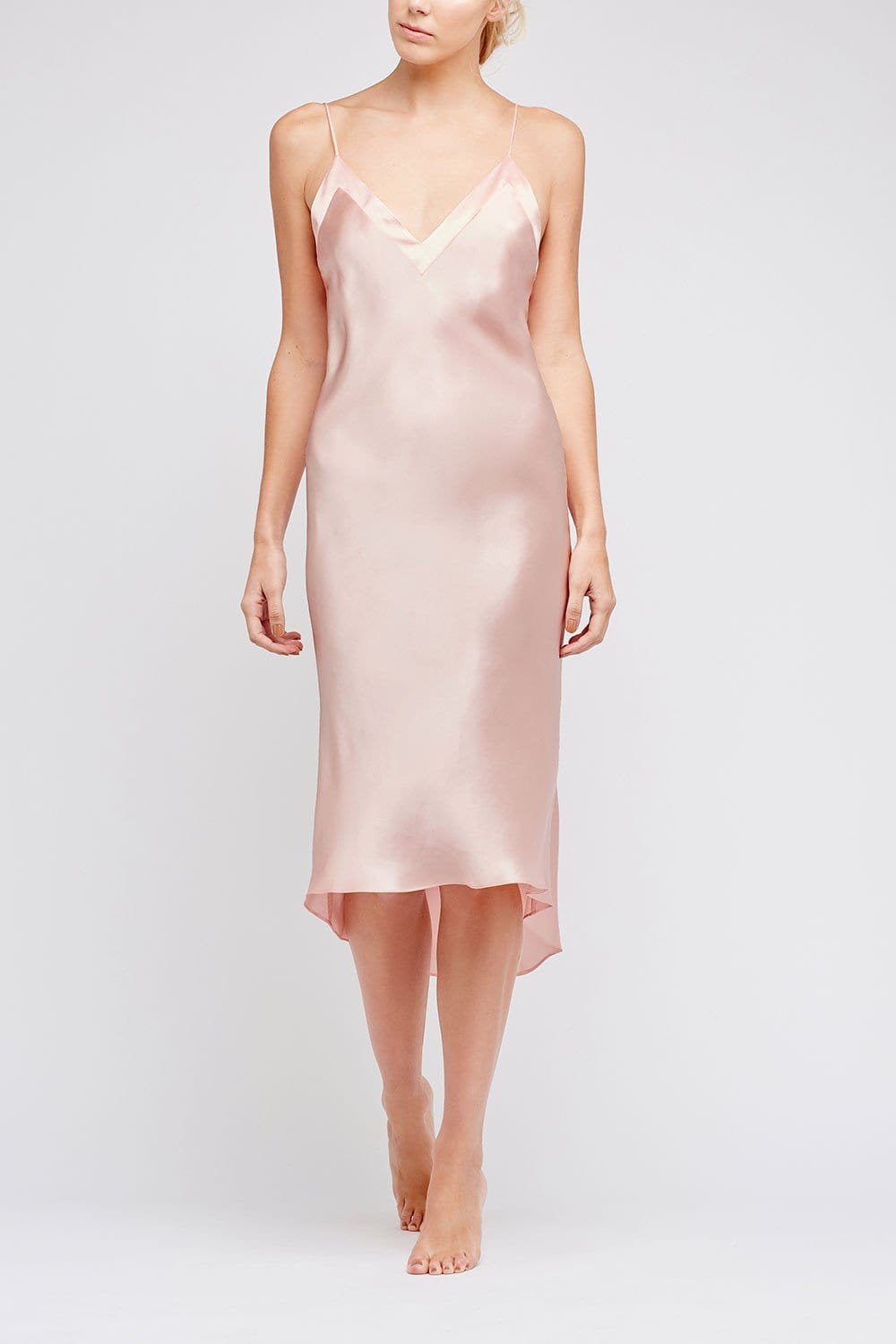 Aurora Charleston Pale Pink Silk Nightdress