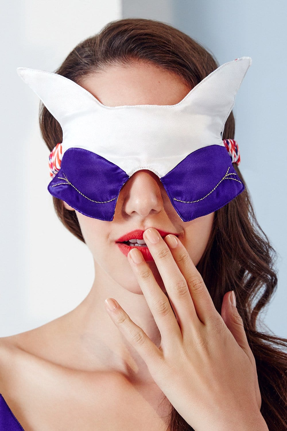 Kitsune Carnival Silk Sleep Mask