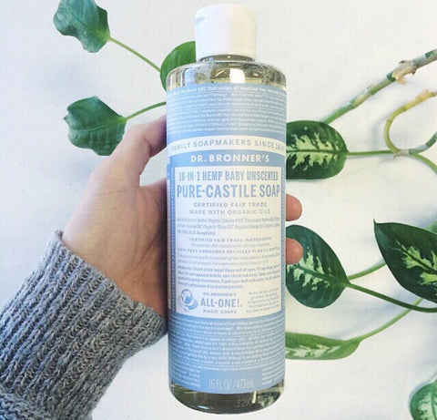 dr. bronner's unscented soap