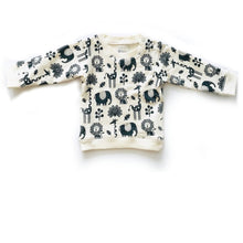 Organic cotton animal printed sweatshirt