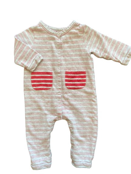 Olen Preloved Organic French Terry Cotton Romper, 9 months