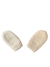 Hand-knitted Hat and Mittens, Newborn