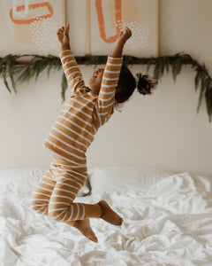 The Olen Stripe Pajama Set, Fawn