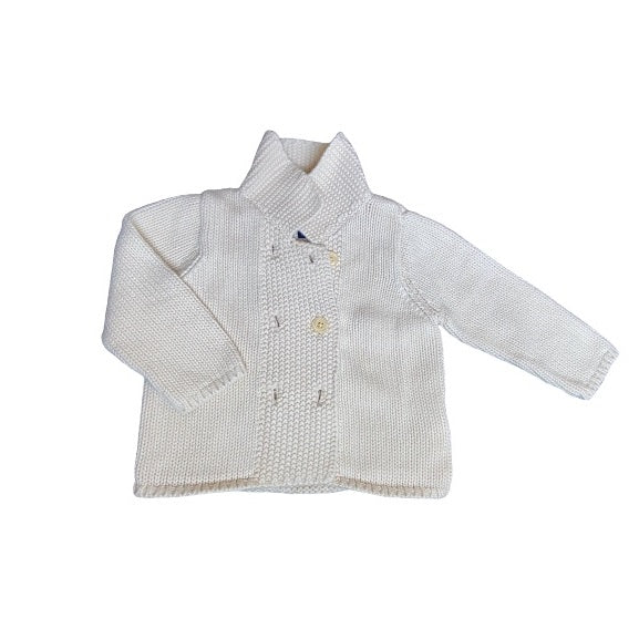 Second-hand baby clothes for the winter. Sweater jacket for babies 6-12 months.