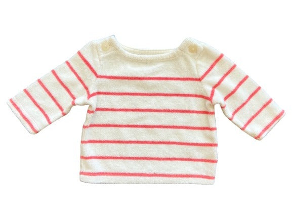 organic baby winter and fall sweater. Striped long-sleeve shirt
