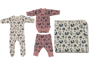 Hello Baby Better Bundle in Piha Print, Natural and Apricot