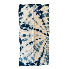 Hand Dyed Indigo Shibori Burp Cloth