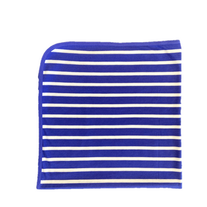 The Olen Stripe Blanket, Cobalt