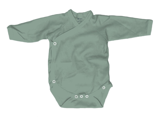 Baby Burrito Bodysuit, Solid Green Tea
