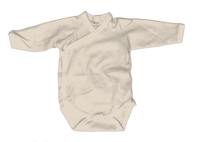 Baby Burrito Bodysuit, Solid Natural