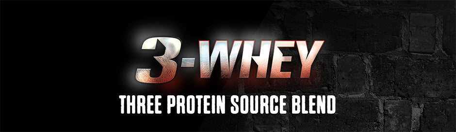 3-Whey - Three Protein Source Blend Banner