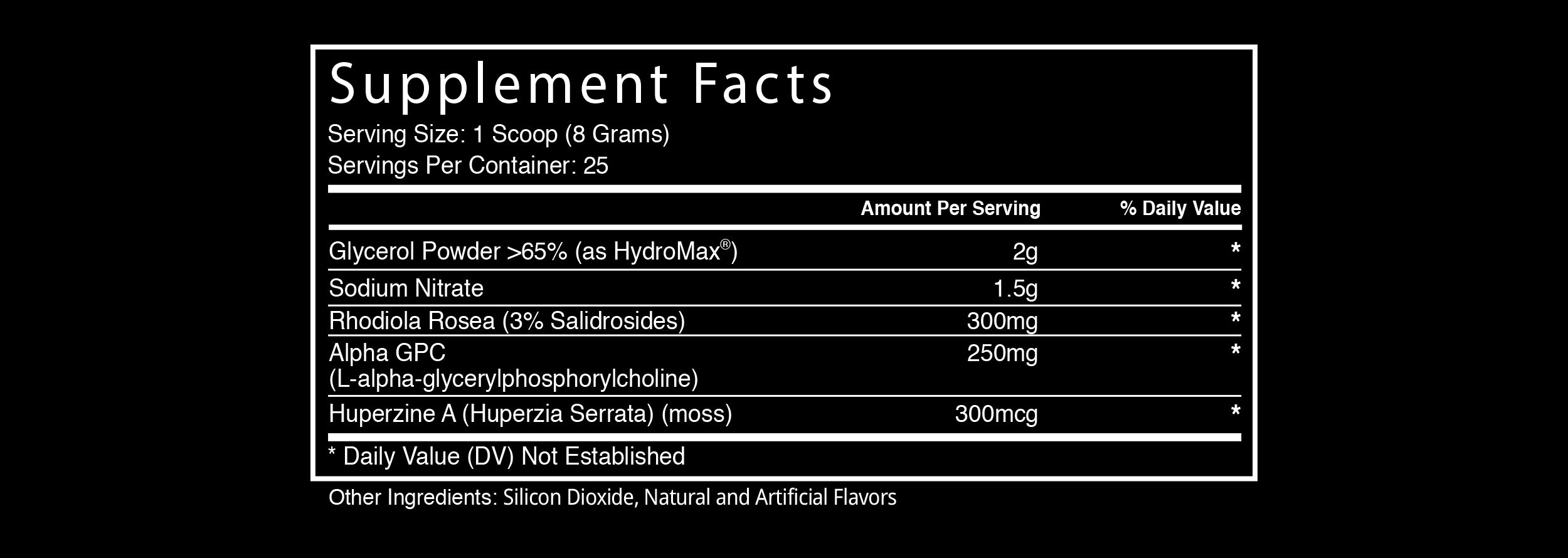 Hype Extreme by Blackstone Labs Supplement Facts