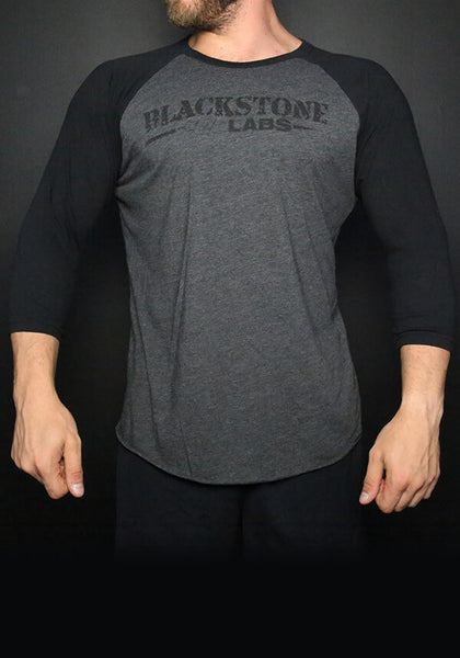 Blackstone Labs Black Baseball Tee