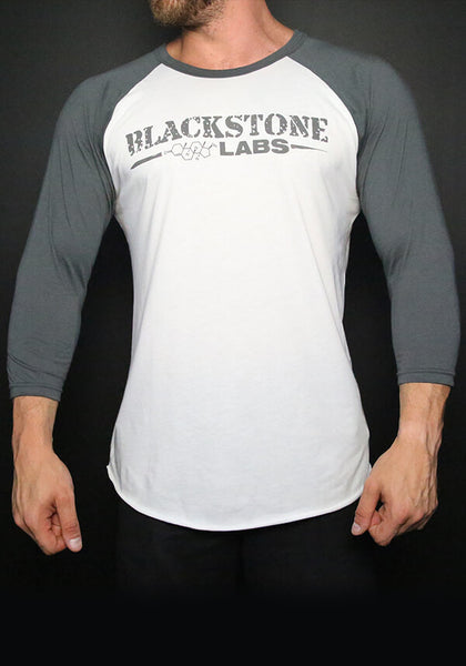 Blackstone Labs White Baseball Tee