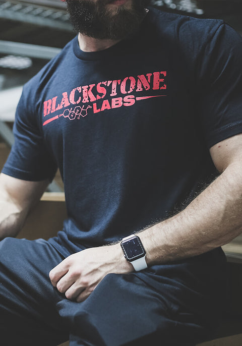 Red Blackstone Labs Logo Tee