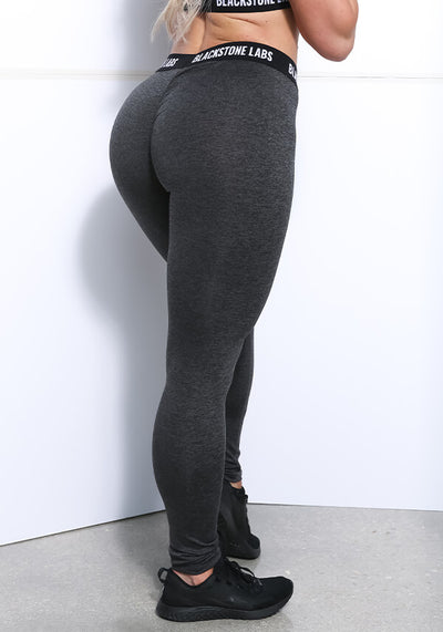 Women's Banded Leggings - Charcoal
