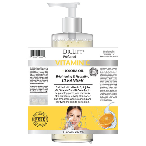 Dr. Lift Vitamin C + Jojoba Oil Brightening Hydrating Cleanser