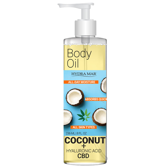 Hydra Mar Body Oil Coconut + Hyaluronic Acid & CBD