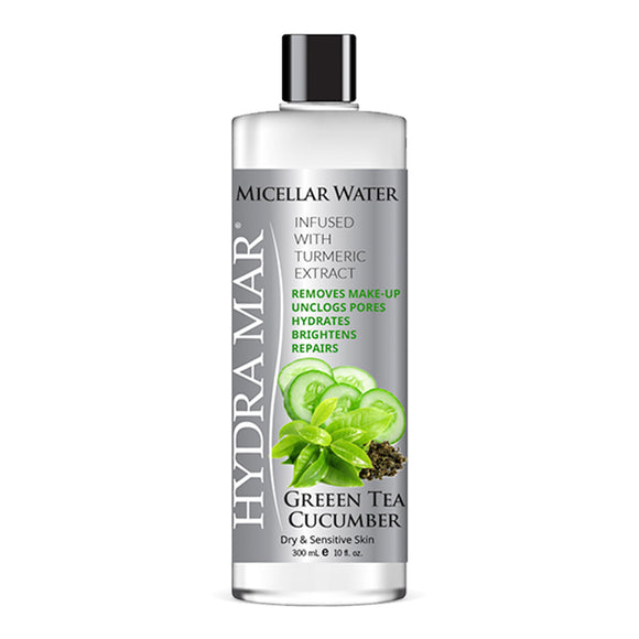 Hydra Mar Green Tea Cucumber Micellar Water, 10 oz