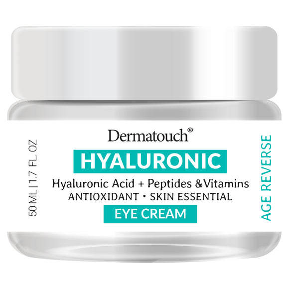 Dermatouch Hyaluronic Acid Eye Cream with Peptides & Vitamins, 1.7 fl oz