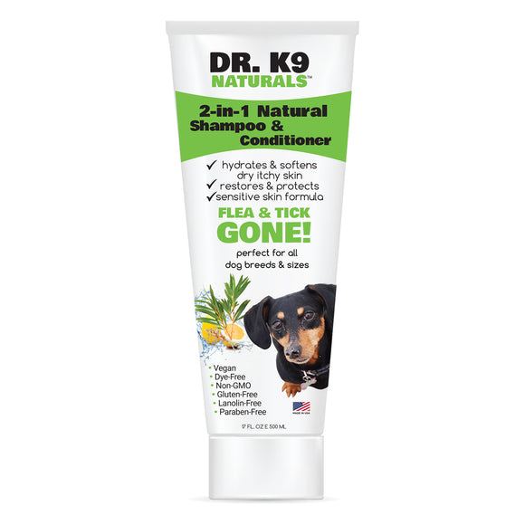 Dr. K9 Naturals 2-in-1 Shampoo & Conditioner, Lemon/Rosemary